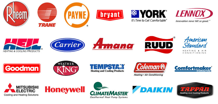 Air Conditioner And Heater Brands Serviced