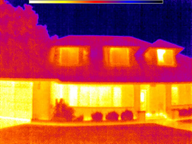FLIR Image Front Of Home Heat Loss