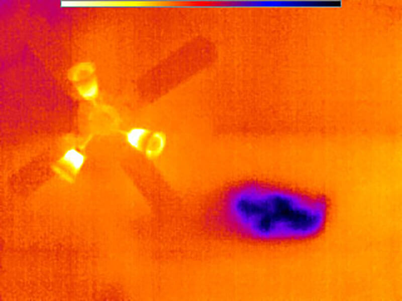 FLIR Thermal Image No Insulation Ceiling
